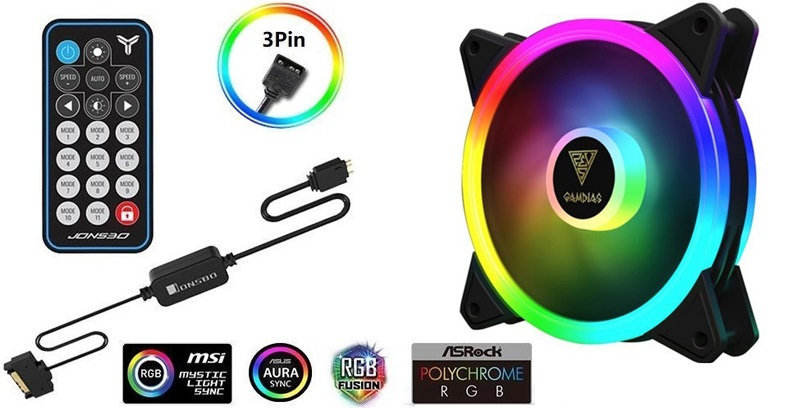 RGB Fans with 3-Pin Connectors