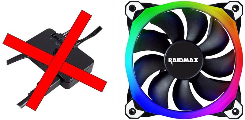 RGB fans that connect without MOBO headers